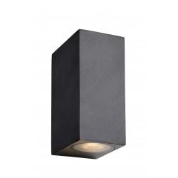 ZORA-LED Wandlicht 2xGU10/5W L9 W6.5 H15cm Zwart Lucide
