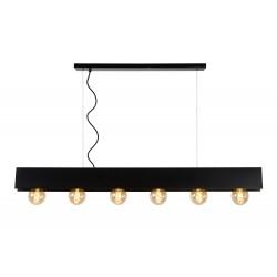 SURTUS Hanglamp 6xE27/60W Zwart  Lucide