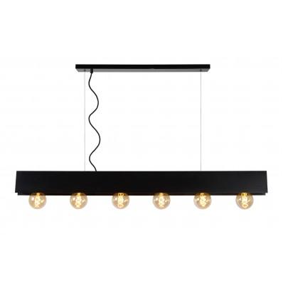 SURTUS Hanglamp 6xE27/60W Zwart