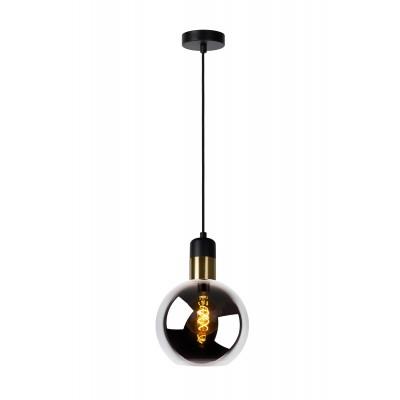 JULIUS Hanglamp 1x E27 Ø 20cm Smoke Glas  Lucide