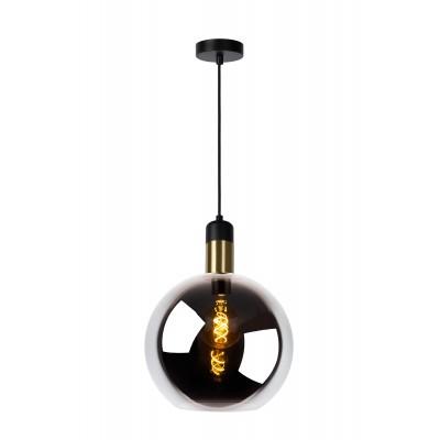 JULIUS Hanglamp 1x E27 Ø 28cm Smoke Glas  Lucide