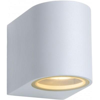 ZORA-LED Wandlicht GU10/5W L9 W6.5 H8cm Wit  Lucide