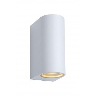 ZORA-LED Wandlicht 2xGU10/5W L9 W6.5 H15cm Wit  Lucide