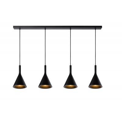 GIPSY Hanglamp 4x E27 Zwart Beton  Lucide