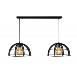 DIKRA Hanglamp 2xE27 60W Zwart Lucide