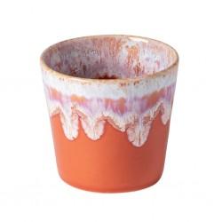 Grespresso Lungo Koffiekop in Aardewerk sunset red 21cl - 8xH7,5cm  Costa Nova