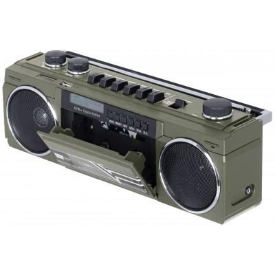 RR-511-DAB retro boombox CASSETTE/FM/BT/USB metaal  trevi