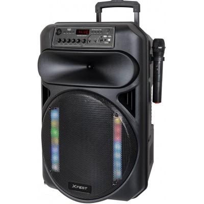 XF-1550-KB karaoke actieve luidspreker 130W zwart  trevi