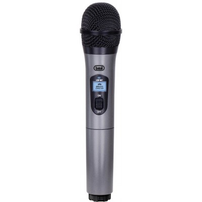 EM-401-R draadloze microfoon + 63 mm jack ontvanger zwart/zilver  trevi