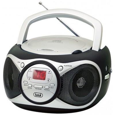 CD-512-BLACK boombox CD/FM zwart  trevi