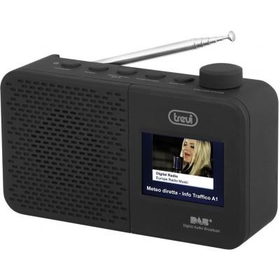 DAB-795-R draagbare DAB-Radio zwart  trevi
