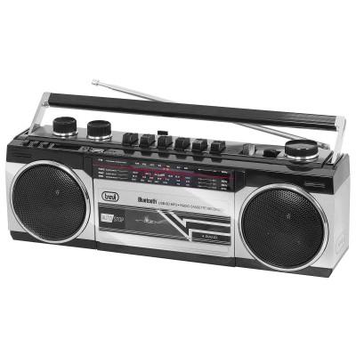 RR-501-BT retro boombox CASSETTE/FM/BT/USB zwart  trevi