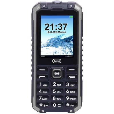 FORTE-PLUS-80 schokbestendige telefoon zwart  trevi