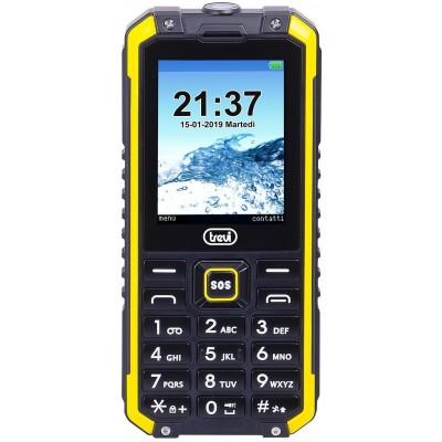 FORTE-PLUS-80 schokbestendige telefoon geel  trevi