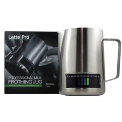 Latte Pro melkkan 60 cl RVS met temperatuurindicatie  Latte Pro