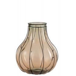 Vaas Fusion Glas/Metaal Taupe Medium Jolipa