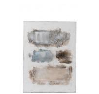 Schilderij Poedervlek Canvas/Hout Bruin/Blauw/Wit