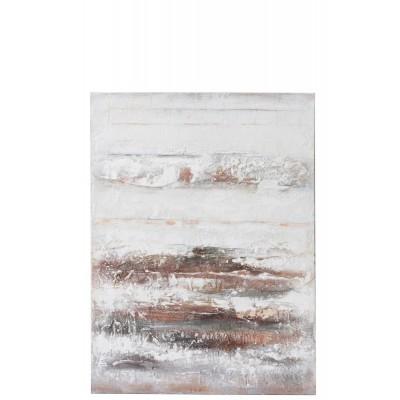 Schilderij Strepen Canvas/Hout Wit/Rood/Groen  Jolipa