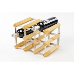 wijnrek voor 9 flessen lichte eik 32.4x22.8x22.8cm  Traditional Wine Rack Co.