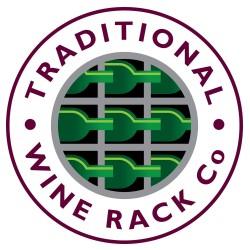 rek voor 6 flessen donkere eik en acryl 25x30x53.5cm  Traditional Wine Rack Co.