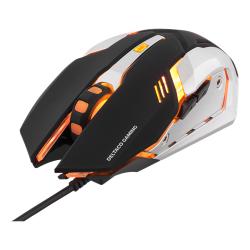 GAM-020 gaming muis zwart/oranje  Deltaco