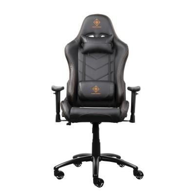 GAM-052 gaming stoel PU leer met nek- en rugkussen zwart  Deltaco