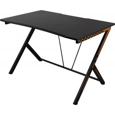 GAM-049 gaming tafel metalen poten PVC blad zwart/oranje  Deltaco