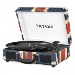 VSC-550BT-UK  leder UK-vlag  Victrola