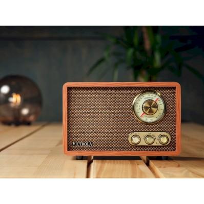 VRS-2800-WLN Retro houten FM/AM radio Mahonie