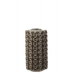 Vaas Koraal Keramiek Grijs Small 26,5cm  J-Line