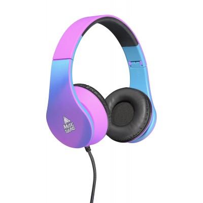 Hoofdtelefoon bekabeld on-ear HPH universeel 19 paars  Music Sound