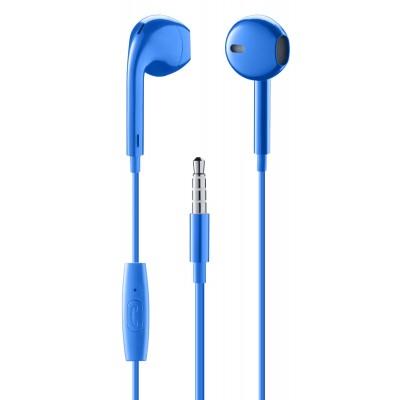In-ear bekabeld in-ear HPH egg-capsule met microfoon blauw  Music Sound
