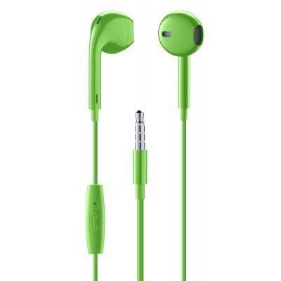 In-ear bekabeld in-ear HPH egg-capsule met microfoon groen  Music Sound
