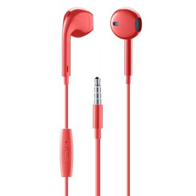 In-ear bekabeld in-ear HPH egg-capsule met microfoon rood  Music Sound