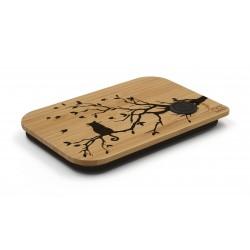 deksel uit bamboe voor lunchbox Cat 17.5x11.8x1.7cm  Nubento
