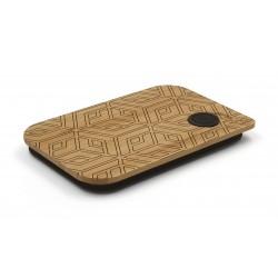 deksel uit bamboe voor lunchbox Geometrical 17.5x11.8x1.7cm  Nubento