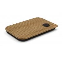 deksel uit bamboe voor lunchbox Oval 17.5x11.8x1.7cm