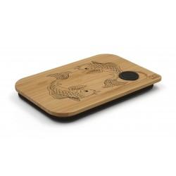 deksel uit bamboe voor lunchbox Fish 17.5x11.8x1.7cm  Nubento