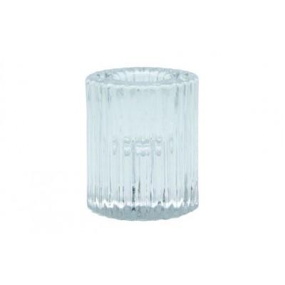 SHINE STRIPES KAARSENHOUDER D5XH6CM GLAS