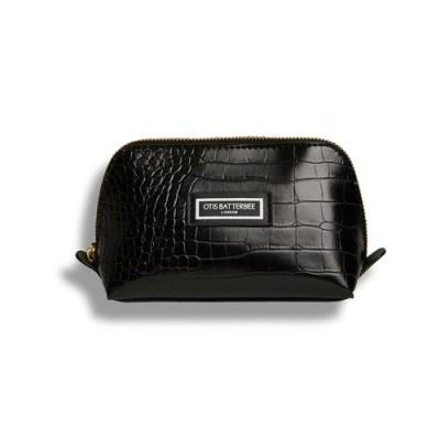 The Beauty Makeup Bag S Black Croc  Otis Batterbee