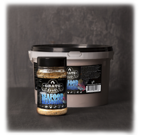 Premium Seafood Seasoning BBQ Rub 220gr  Grate Goods