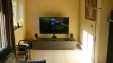 Samsung 132 cm curved led tv, Ardeno Khalina 180cm meubel, KEF E305 speaker set, Yamaha Avantage RX-S701 Home cinema set.